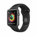 Apple Watch Series 3 42mm Spacegrau Loop Schwarz